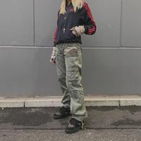 FAJ0667 vintage bou style camo pants