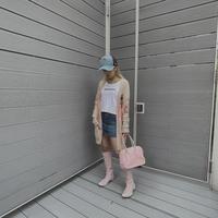 FAJ0648 vintage R4R denim mini culottes skirt