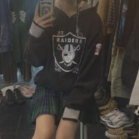 FAJ0922 vintage RAIDERS hoodie
