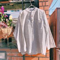 JOP1701076 スタンドカラーストライプシャツ