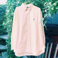 JOP1701074 ラルフローレンシャツ(YEL×WH)