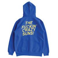FUCKIN CRAZY SUNS ZIP HOOD (BLUE)