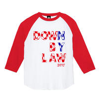 DOWN BY LAW RAGLAN (RED/WHITE)