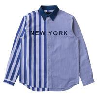 NYC STRIPE SHIRT (NAVY)
