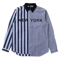 NYC STRIPE SHIRT (BLACK)