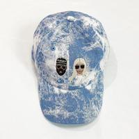 KIMYE風 CAP BLEACH BLUE