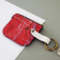 ‹‹ Artém Atelier ›› START S - パス&コインケース (エレクトリックブルー / レッドスプラッシュ)