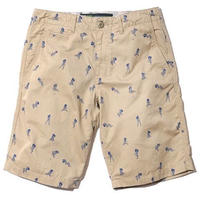BackChannel-GIRL PRINT CHINO SHORTS