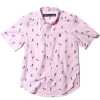BackChannel-GIRL PRINT OX B.D. HALF SLEEVE SHIRT