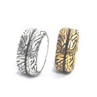 brain ring silver