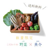 【ふじのくに愛情パック】 (山梨の農産物5品 以上× 静岡の魚介と名産品各1品の詰め合わせ)