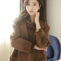 ウール混アウトポケットコート・53 (Wool blended out pocket coat )p102737