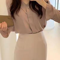くるみボタンブラウス・全3色・36 (Walnut button blouse )t55832