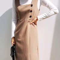 ma563 ボタンスクエアネックワンピース・全2色・(Button square neck dress ・ 2 colors )t55661
