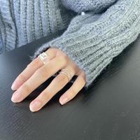 silver925 ダブルラインリング (c_accessory-00649/00650)