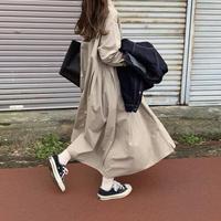 【予約】フレアロングシャツOP (o-00323)