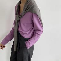 Knit Fake Cardigan (00466)