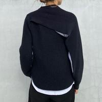 オープンバックニットセーター