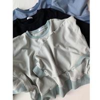 balloon  sleeve スウェット black/mint/blue