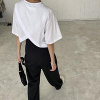 バッククロスオープンTシャツ(00609)