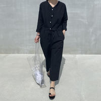Linen Blend Jumpsuit black (00484)