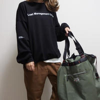 【sold out】リバーシブル ロゴ スウェット 即納