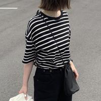 cotton ボーダーTシャツ