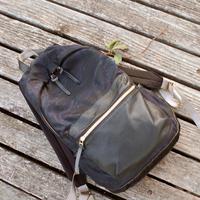 SA-CHE カモフラナイロン × レザーポケット バックパック  TIGRE  A5425 ネイビー