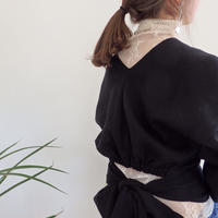 v-neck back  ribbon tops