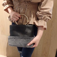 2way ring fur bag