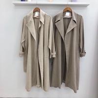 Linen long coat (2Color)