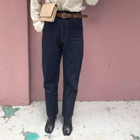 indigo straight pants