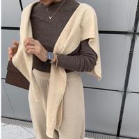 Wool Muffler Cardigan
