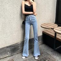 春夏 新しいデザイン 韓国風 女性服 アンティーク調 着やせ ストレッチ ハイウエスト