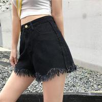 ファッション 新しいデザイン 夏 韓国風 ハイウエスト 着やせ ワイドレッグ T-ストラ