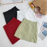 韓国風 気質 風 ハイウエスト 着やせ 言葉 スカートの女性 夏 新しいデザイン 単一色