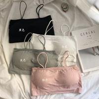 女性服 ファッション 新品 ブラジャー チューブトップ 下着 韓国風 シンプル 単一色