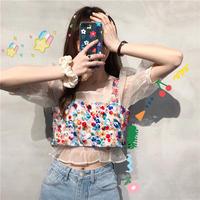 夏 セット 女 韓国風 何でも似合う ファッション スパンコール 短いスタイル ベストガ