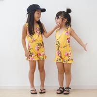 (即納)girl's flower sun suits