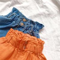 【即納】girl's highwaist denim shorts