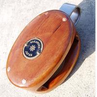 木製の滑車、ウッド製のブロック、シングル シーブ径50mm