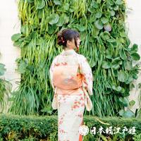 0368 名古屋帯 Aランク美品 正絹 ピンク 草花 牡丹 色紙 お太鼓柄 帯丈353cm