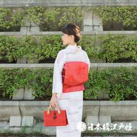 0203 美品☆夏物 名古屋帯 正絹