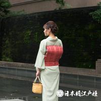 0226 夏物 名古屋帯 Aランク美品 紗 正絹 博多織 帯丈333cm
