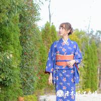 0379 小紋 名品 Aランク美品 正絹 袷 青紫 椿 梅 地紋に紗綾形 身丈158.5cm