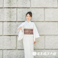 0198 美品☆夏着物(薄物) 小紋 化繊