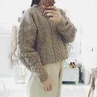 used aran  knit  beige