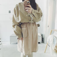 BELIZE  beige check blouse