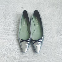 used PRADA  silver  pumps