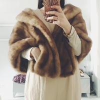 used mink fur cape